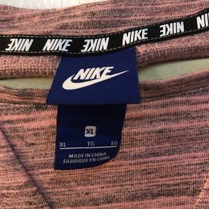 Nike Tops - Nike Pink/Black High Low Top w/Stretch!!